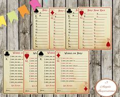 Baby shower games https://www.etsy.com/listing/203840834/alice-in-wonderland-baby-shower-party