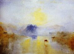 "JMW Turner. Sunrise at Castle Norham, 1845. Pre-dates impressionism by 40 years give or take. Saw this in person at the Tate in London it is a large painting say 48"" X 36"" and overwhelmingly beautiful."