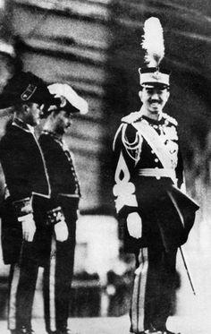 Emperor Showa at Tokyo Station, Japan, 6 Apr 1935