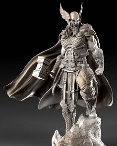 [image] Title: - Thor - Name: David Molina Country: Colombia Software: ZBrush Maya Submitted: February 2016 A Private Commission i did last year. The idea on the concept is that the Helmet and Hammer were th… Statues, Vikings, Character Modeling, 3d Character, Celtic Warriors, Digital Sculpting, Norse Mythology, Gods And Goddesses, Sculpture Art