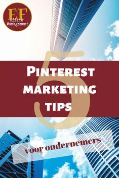 5 tips voor jouw Pinterest marketing | EF Office Management Pinterest Marketing, Office Management, Tips, Cover, Movie Posters, Blog, Film Poster, Blogging, Billboard