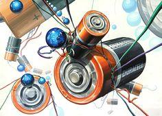 기초디자인 High School Art Projects, Composition Art, Color Pencil Art, Marker Art, Art Lesson Plans, Pictures To Draw, Medium Art, Geometric Shapes, Art Lessons