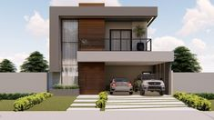 100 M2, Sweet Home, Mansions, Architecture, House Styles, Outdoor Decor, Home Decor, 2 Storey House, Square House Plans