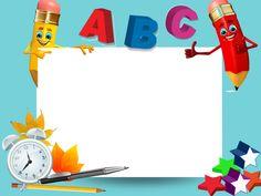 Alphabet Activities, Preschool Activities, Cartoon School Bus, Perfect Attendance Certificate, School Board Decoration, Clown Crafts, Powerpoint Background Templates, School Border, Powerpoint Slide Designs