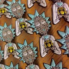 6pm EST our Pinhead Rick pin will be going live in our shop! These feature a glitter gold Meeseeks box! Only 10 schmeckles! #pingame #pingamestrong #PINDEMIC #pin #pins #lapelpin #lapelpins #pincommunity #hatpins #hatpin #rickandmorty #hellraiser #pinhead #printordie #printandcry #studiohousedesigns @fuckrickandmorty by studiohousedesigns