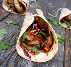 Oppskrift Veganske Potetboller Med Vegan Ost Hoisinsaus Tahini Sriracha Lompe