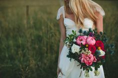 Love a jumbo sized bouquet! You would need muscles to throw this one.