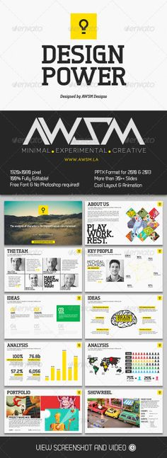 Design Power PowerPoint Template - Creative Powerpoint Templates more on http://html5themes.org