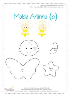 Molde Anjinho Dream Catcher Vector, Diy And Crafts, Christmas Crafts, Paper Crafts, Felt Crafts Patterns, Felt Angel, Felt Templates, Personalized Gifts For Kids, Christmas Tree Painting