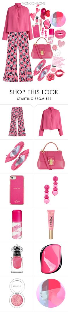 """Color Me Pretty: Head-to-Toe Pink"" by shudenbaun on Polyvore featuring мода, Gucci, Balenciaga, Dolce&Gabbana, Kate Spade, Oscar de la Renta, Guerlain, Tangle Teezer, Clinique и Charli"