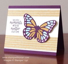 Watercolor Wings, Stampin' Up!, Brian King, FMS191