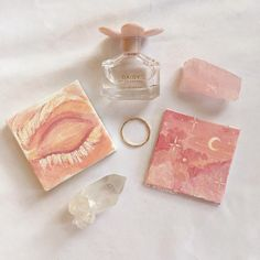 aesthetic pink pastel sweet soft art coral peach tropical minimalism summer self care flower travel bullet journal cafe rose blush food sweet peachy make up crystal perfume ring mini canvas Cute Canvas Paintings, Small Canvas Art, Mini Canvas Art, Mini Paintings, Art Hoe Aesthetic, Peach Aesthetic, Aesthetic Painting, Aesthetic Style, Art Mini Toile