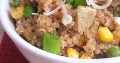 Quinoa Cantonais 5 Ingrédients {Sans gluten,Ig bas, Végétarien}