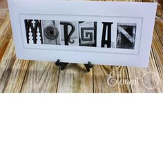 Name art...could be a cool end of the year gift for 5th graders...all letters found at their elementary school.