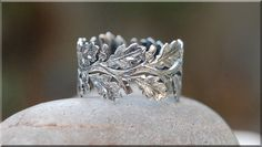 Hey, I found this really awesome Etsy listing at https://www.etsy.com/listing/210376527/oak-branch-eternity-ring-sterling-silver