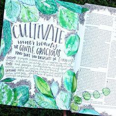 Bible Journaling by @briannashowalter