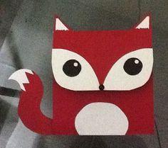 Cartão de raposa de dia dos namorados