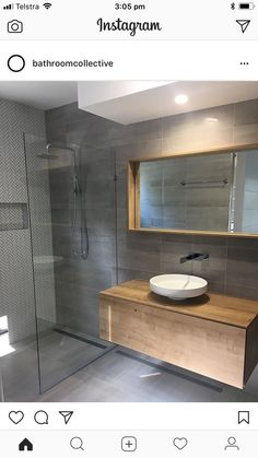 Just glass barrier Ensuite Bathrooms, Upstairs Bathrooms, Bathroom Renos, Bathroom Renovations, Master Bathroom, Bathroom Design Small, Bathroom Interior Design, Modern Bathroom, Bathroom Design Inspiration