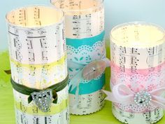 Wrapped candles - fab Christmas pressie!