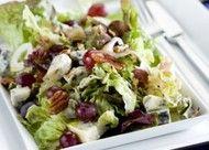 Salade met blauwe kaas en druiven