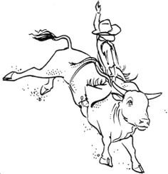 Mutton Buster Rodeo Coloring Page
