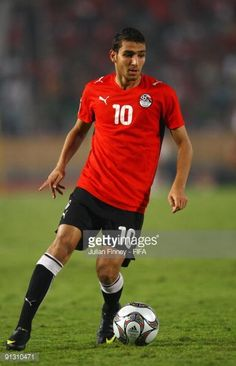 Ahmed Shoukri of Egypt in action during the Group A FIFA U20 World Cup match between Italy and Egypt at the Cairo International Stadium on October 1...