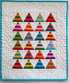 Bright Silk Miniature Tee Pee Quilt for Spring by sunbury on Etsy