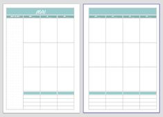 Free printable download - Vertical Planner - colorful or black and white A new planner version for A5 or A4 available on my blog!