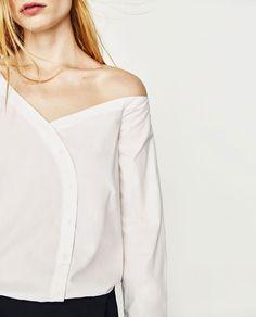 Image 3 of POPLIN BODYSUIT from Zara