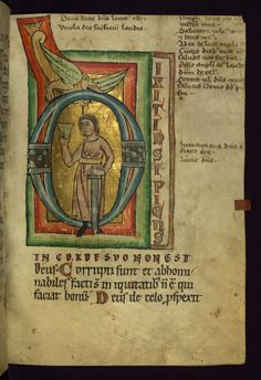 Sexy Codicology: Psalter, Man with Sword and Cup, Walters...