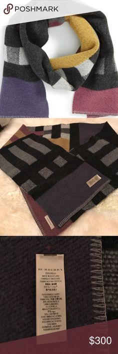 Burberry Wool & Cashmere Blanket Scarf 100% Authentic Burberry Blanket Scarf. This Scarf from 2015 Burberry winter collection. 85% Wool 15% Cashmere. I only used 2 times. It is hard for me to use it Virginia warm winter. 200x30 cm Made in Scotland Burberry Accessories Scarves & Wraps