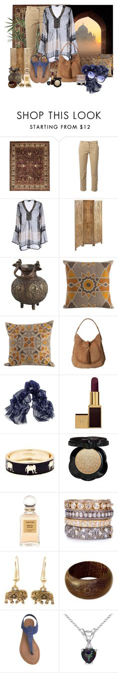 """""""taj mahal"""" by lore1794 ❤ liked on Polyvore featuring Bloomingdale's, Dolce&Gabbana, Positano by Jean Paul, Pier 1 Imports, CB2, Zodax, Lauren Ralph Lauren, Tom Ford, Fornash and Too Faced Cosmetics"""