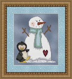 Free Frozen Snowman Cross Stitch Pattern