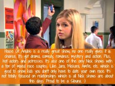"""House Of Anubis is a really great show; no one really gives it a chance. It's got drama, comedy, romance, mystery and action. Plus, hot actors and actresses. It's also one of the only Nick shows with a ton of mixed race couples. Like Jara, Mickara, Amfie, etc. which is good to show kids you don't only have to date your own race. It's not totally focused on relationships which is all Nick shows are about this days. Proud to be a Sibuna. :)"""
