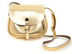 Leder Sattel Tasche Gold von MartinPryceLeather auf Etsy