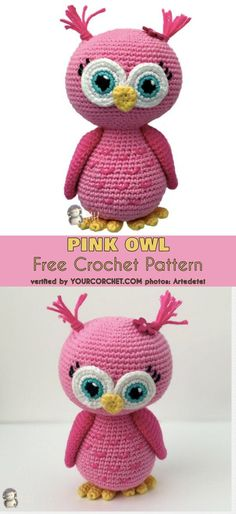 Pink Owl Amigurumi Free Crochet Pattern #freecrochetpattern #amigurumipattern #crochettoy