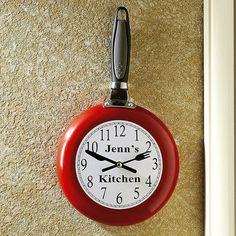 Frying Pan Kitchen Clock $29.99