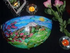 Handpainted lamp Sakura от ShinaLamps на Etsy