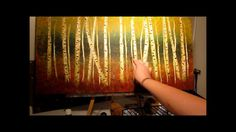 How to Paint Aspen Trees - step by step....I'm doing this in the next few days...I can't wait!