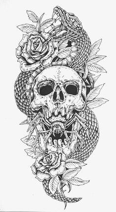 Arm tattoo desings on behance tattoos tattoo designs, tattoo Skull Tattoo Design, Tattoo Sleeve Designs, Skull Tattoos, Tattoo Designs Men, Leg Tattoos, Black Tattoos, Sleeve Tattoos, Badass Tattoos, Dark Tattoos For Men