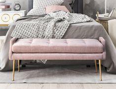 TOV Furniture Eileen Slub Velvet Bench – Bar Stool Co.