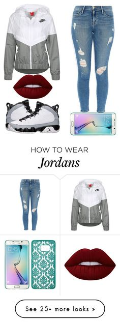 """3-30-16"" by nun-ya on Polyvore featuring NIKE, Frame Denim, Samsung, Retrò and Lime Crime"