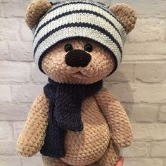 In this article we share amigurumi animal free crochet patterns. I wish you enjoyable knitting. Amigurumi toys are beautiful. Cute Crochet, Crochet Dolls, Crochet Baby, Crochet Mignon, Crochet Bear Patterns, Crochet Ideas, Crochet Teddy Bear Pattern Free, Stuffed Animal Patterns, Crochet Projects