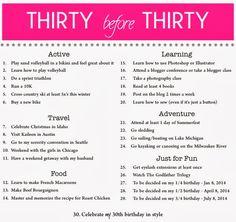 This Grand Adventure: Chelsa-Bea 30 Before 30 List #30before30