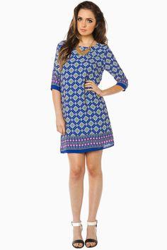 ShopSosie Style : Canavan Shift Dress in Royal