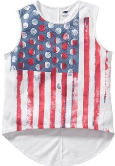 Girls Americana-Graphic Sleeveless Tees