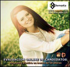 Evaluacion Online de Candidatos con respuesta inferior a 24 horas en REMARKA SAS