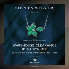 HABIB Warehouse Clearance Sale Up To 30% OFF from 24 September 2020 until 27 September 2020 27 September, Stephen Webster, Fashion Sale, Clearance Sale, Warehouse, 30th, Magazine, Barn, Storage