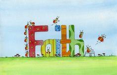 Faith - Watercolour by Sandra Herrgott