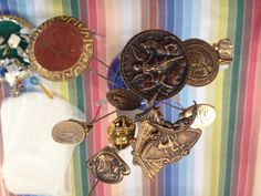 Vintage hat pins - old-fashioned, unmatched detail